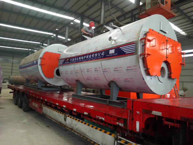 青岛客户采购河南太康锅炉厂燃气蒸汽锅炉